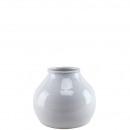 Keramik Vase Irmi, D21cm, H18cm, weiß